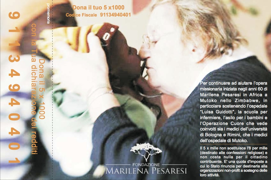 volantino 5x1000_Fondazione Marilena Pesaresi