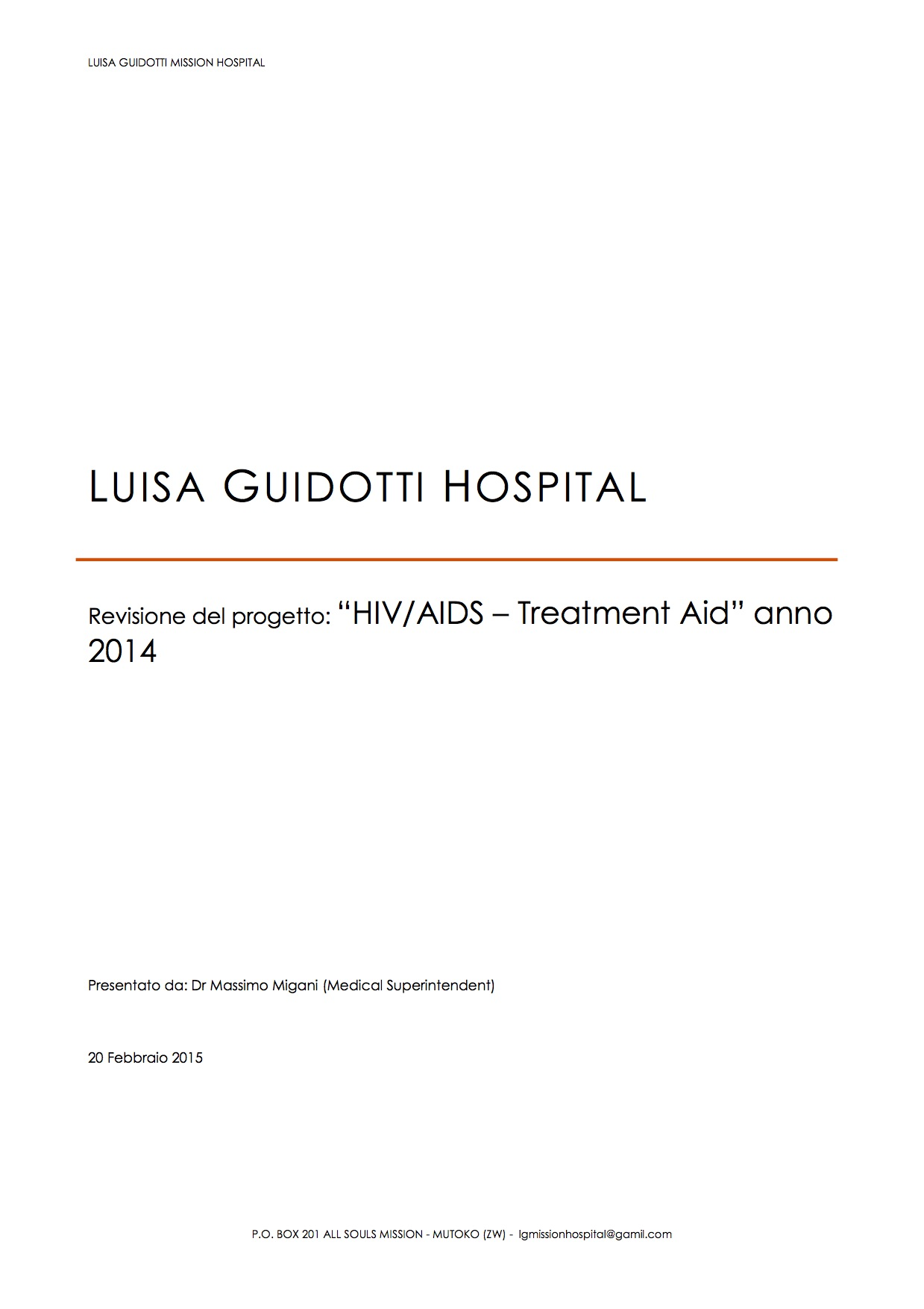 Report fine HIV-AIDS Aid 2014