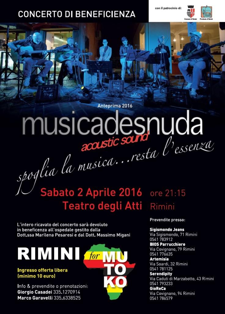 musicadesnuda rimini for mutoko concerto 2 aprile