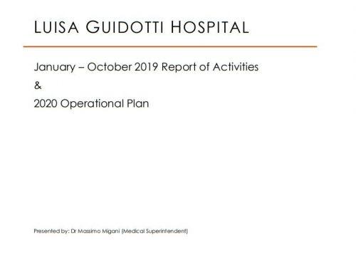 January – December 2019 Report of Activities
